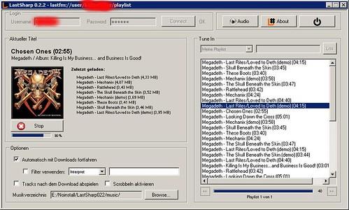 LastSharp: Ein Windows-Ripper für Last.fm