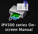 iP4500 series On-screen Manual shortcut installed on the desktop