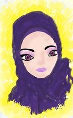 purple (alferas9kuw) Tags: girl photoshop painting purpel hejab      mohajaba 7ejab  alferas9kuw