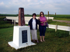 Donna and Kristi at the Tri-state Marker