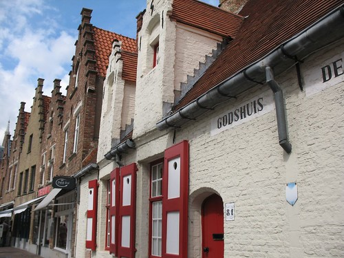 A typical street in Bruges