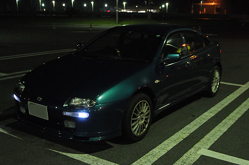 My car in the Dark.