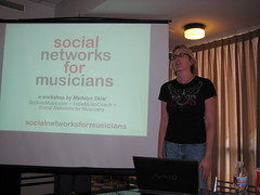 Doing my Social Networks for Musicians workshop
