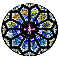 Round window (Stringendo) Tags: church window glass colours stained round colourful swanage