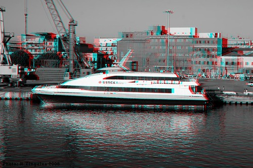 Milazzo Docks Anaglyph
