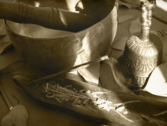 hippie paraphenalia - take 2 (Loving Earth) Tags: india singing bell bowl creativecommons hippie incense