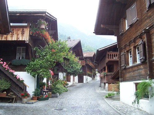 Swiss Houses in Brienz