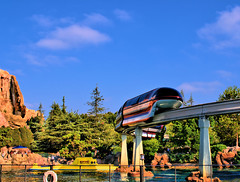 Disney - New Monorail Red Over Nemo Subs - HDR (Express Monorail) Tags: california morning motion reflection water colors wonder geotagged moving colorful raw ride disneyland f14 magic details dream sigma kingdom disney mickey pop submarine potd fantasy future mickeymouse imagine theme imagination blueskies wish orangecounty monorail anaheim walt tomorrowland 2008 magical neptune dl dlr hdr highdynamicrange themepark magickingdom attractions subs waltdisney wdi 30mm disneylandresort imagineering monorailred markvii disneyparks 81608 expressmonorail findingnemosubmarinevoyage disneyride dynamicphotohdr waltdisneyimagineering waltereliasdisney nikond300 paintshopprophotox2 july32008 joepenniston disneyphotography august162008 geo:lat=33812711 geo:lon=117917048 june141959 burkecompositedesign 5stardisneyaward
