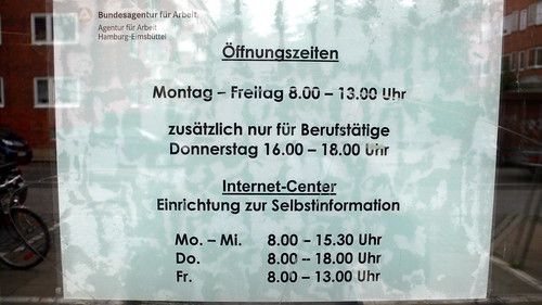 Öffnungszeiten Arbeitsamt Eimsbüttel