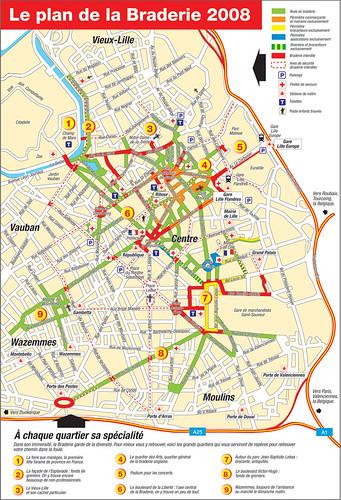 Plan de la Braderie de Lille 20008