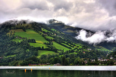 My Dream (Mohamed Majki) Tags: sea lake salzburg rain clouds work canon germany austria see am dream center kuwait  zellamsee hdr mohamed zell voluntary mydream blueribbonwinner vwc my  aplusphoto majki  kvwc kuwaitvoluntaryworkcenter  hdraward mohamedmajki