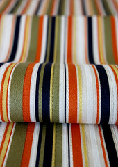 KHAKI WAVE (karaku*) Tags: japanese pentax patterns khaki fabric etsy striped k100d