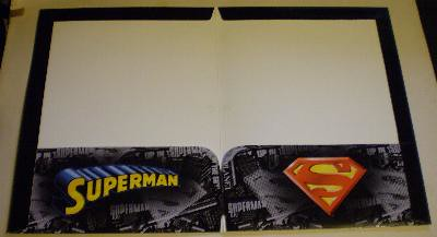 Interior of my first Superman folder from 2006