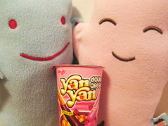 Yan Yan! (Spok-spok) Tags: cute smile dessert fun toy happy design cool soft candy sweet sweden designer chocolate swedish plush softie cuddly kawaii plushie giggling spok designertoy designerplush spoks spokspok spökspök spökelina