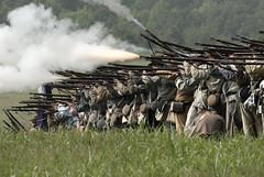 Line of Fire (FRASIERESS) Tags: civilwar soldiers guns reenactment chickamauga battleofchickamauga