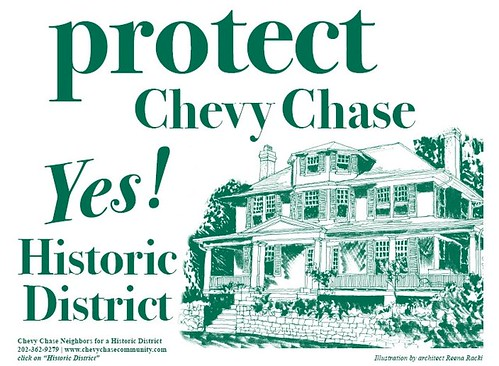 Protect Chevy Chase Yes! Historic District yard sign
