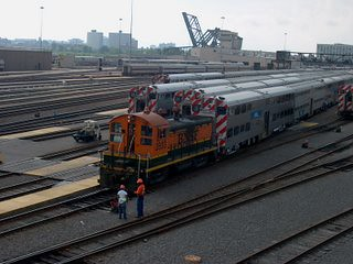 Switching the Metra / BNSF Railway commuter coach yard at South Canal Street and West Roosevelt Road. Chicago Illinois. August 2007. by Eddie from Chicago