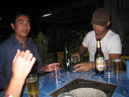 Noy (right) and climbing instructor (left)