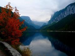 Lower Lake Gosau (Claude@Munich) Tags: autumn lake alps reflection water colors geotagged austria see sterreich wasser colours herbst autumncolors alpen dachstein spiegelung obersterreich gosau salzkammergut upperaustria herbstfarben claudemunich vorderergosausee top20autumn dachsteinmountainrange geo:lat=47532683 geo:lon=13498619