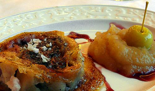 Orella de porco celta con foie / Oreja de celdo celta con foie