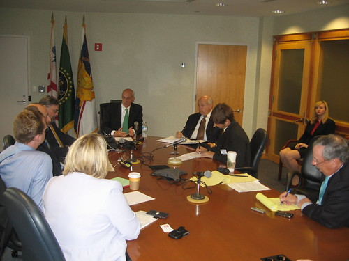 Secretary Chertoff At Bloggers Roundtable by you.