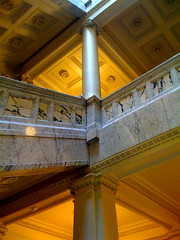 Architecture at the State Historical Society (ilamya) Tags: wisconsin architecture pillar madison marble historicalsociety