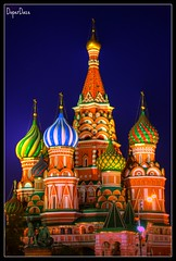 St.Basil Cathedral 1 @ Blue Hour (DoperDaze) Tags: longexposure blue light night lights cathedral russia moscow sony hour basil bluehour alpha redsquare nite hdr stbasilcathedral anawesomeshot 350alpha