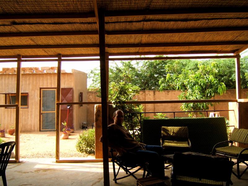 Ma terrasse de l'intérieur