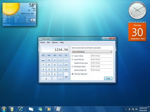 Windows 7 Calculadora