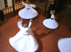 The whirling continues. (Praziquantel) Tags: turkey dance sema bursa whirlingdervishes