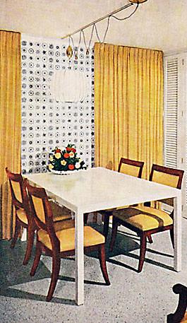 BH&G 1961 - Wallpaper & Curtain Accent Wall