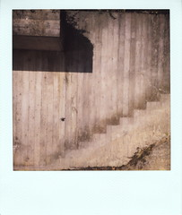 concrete wall (So gesehen.) Tags: shadow wall rural polaroid concrete schweiz switzerland stair lofi marks scanned polaroidlandcamera polaroid600film kantonschwyz polaroid2000 sx70moddedfor600 willerzell