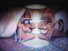 immagine raffigurante due visi composti da persone