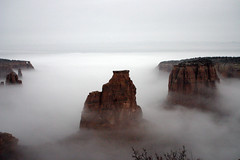 Primortial (Outrageous Images) Tags: park winter nature fog colorado nationalmonument monoliths fruita cnm canyonfog outrageousimages davewadsworth coloradofog caondelcoloradofotos