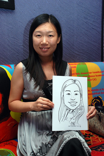 Caricature live sketching for Dow Jones 8