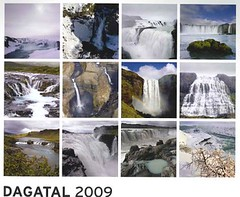 My new office calendar for 2009 (Now in Iceland) Tags: waterfall iceland calendar wasserfall kalender