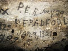 Historic Signatures, Grassy Cove Salt Peter Cave, Cumberland Co, TN (Chuck Sutherland) Tags: county tn cove tennessee bat salt historic peter vandalism cave graphiti cumberland bats signatures roost grassy saltpeter