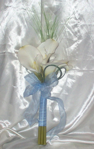 """heather"" calla handtied with bling & looped grasses by you."