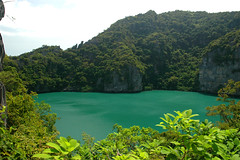 Thailand / National park Ang Thong / Green Lagoon (Nimue***) Tags: travel sea beach nature public water thailand island this see nationalpark sand nikon asia all with d70 photos icon tagged click 2008 videos angthong 5photosaday thajsko greenlagoon earthasia earthasiea