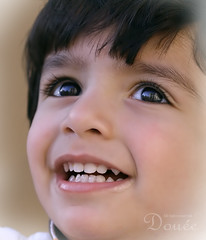 (Doue ) Tags: boy baby reflection home beautiful smile canon happy yummy eyes teeth small 100mm explore drool hemo