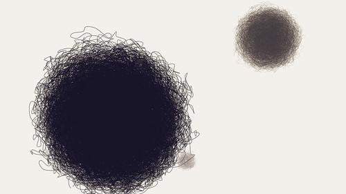 three furry balls