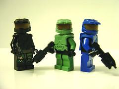 Brickforge Spartans (Marcelo David) Tags: lego halo spartans brickarms brickforge