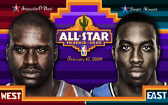 2009 NBA All-Star Game Wallpaper (Shaq-Howard)