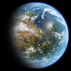 Mars Terraformed (clementi) Tags: sf mars space science scifi astronomy sciencefiction terraforming