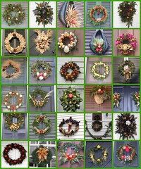 Christmas Wreaths From Colonial WIlliamsburg, Virginia (Tobyotter) Tags: christmas virginia fdsflickrtoys williamsburg wreaths peregrino27newvision