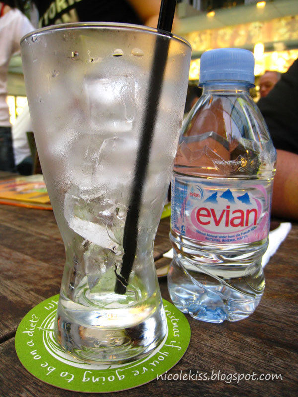 1 dollar 50 cents evian water