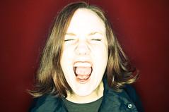 AAAAAAAHHHHHH!!!!! (poopoorama) Tags: red portrait woman wall nikon sigma margaret ringflash orbis d300 strobist 1850mmf28exmacrohsm orbis09q1