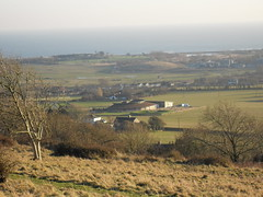 View from the Downs over Brading Roman Villa