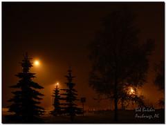 it was a dark and foggy night... (BobButcher) Tags: nightphotography fog alaska d50 lights nikon anchorage nikkor2485mmf28
