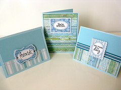 Trio of Friendship Cards (prospurring (Anne)) Tags: blue friends white green cards aqua ranger friendship handmade turquoise ribbon heroarts bazzill catseye greetingcards colorbox basicgrey eksuccess twoscoops yourespecial youmademyday archivalink sharelaughter heidigrace clearsnap cl129 pigmentinks framesandmessages waterproofinks 3ddots cl130 anytimemessages cl151 prospurring 2009catalog nifts stitchstripe